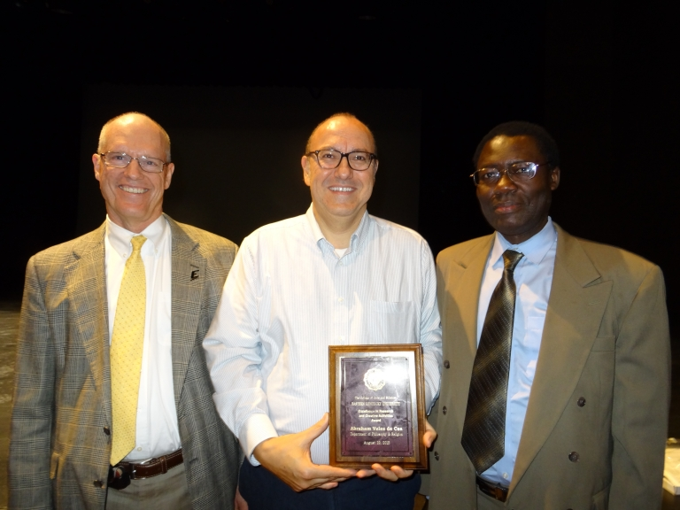 Dr. Velez with Dean Wade and Associate Dean Otieno