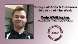 Cody Whittington: CAS Student of the Week